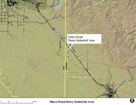 Elmore County's proposed Simco Road industrial site is closer to Boise development than it is to Mountain Home
